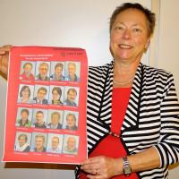 Die SPD-Vorsitzende und zweite Bürgermeisterin Erika Krauß präsentiert unsere die Gemeinderatskandidatinnen und -kandidaten